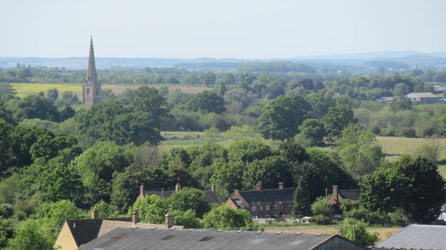 view of our house in Honington from walk